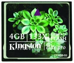 Kingston Elite Pro 4 GB 133x CompactFlash Memory Card CF/4GB-S2