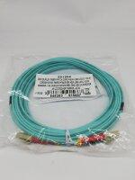 Synergy 21 S216227 OM3 Duplex Glasfaser Kabel 5m hellblau