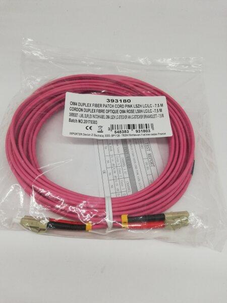 OM4 Duplex Glasfaser Kabel 5m rot