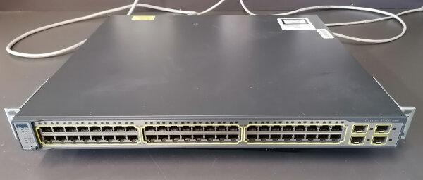 Cisco Catalyst 3750 48 10/100/1000T + 4 SFP Standard Multilayer 48x Gigabit Switch ws-c3750g-48ts-s